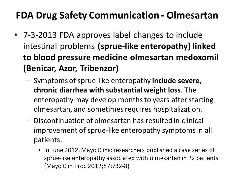 FDA Drug Safety Communication - Olmesartan