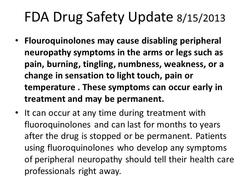 FDA Drug Safety Update 8/15/2013