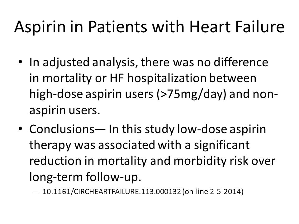 Aspirin in Patients with Heart Failure