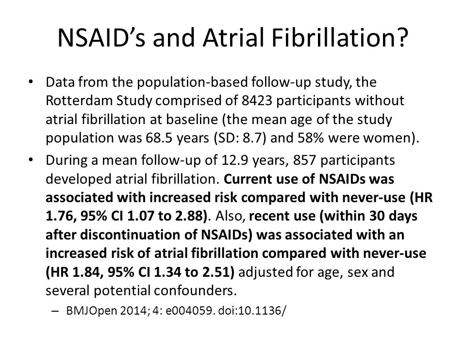 NSAID's and Atrial Fibrillation