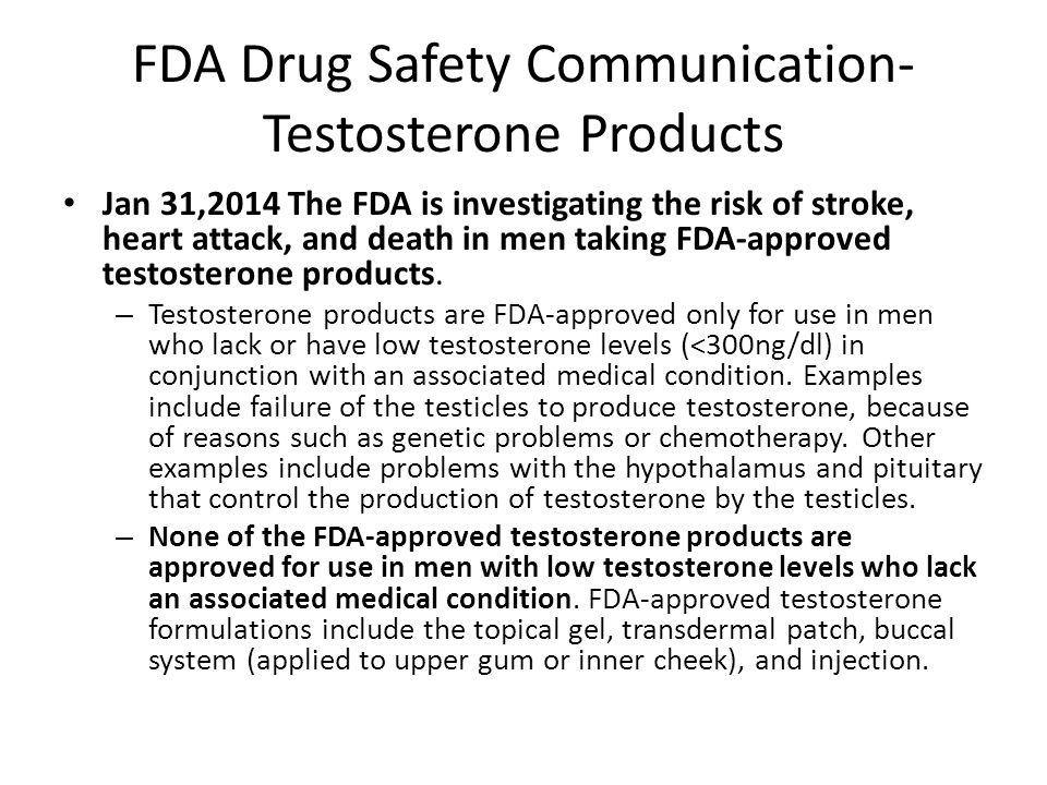 FDA Drug Safety Communication- Testosterone Products