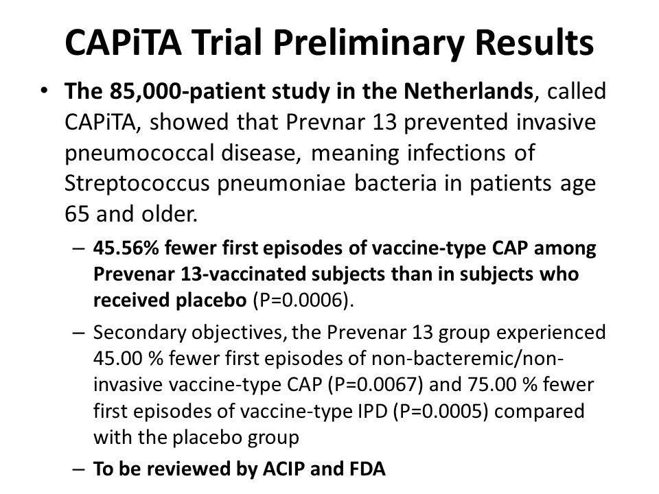 CAPiTA Trial Preliminary Results