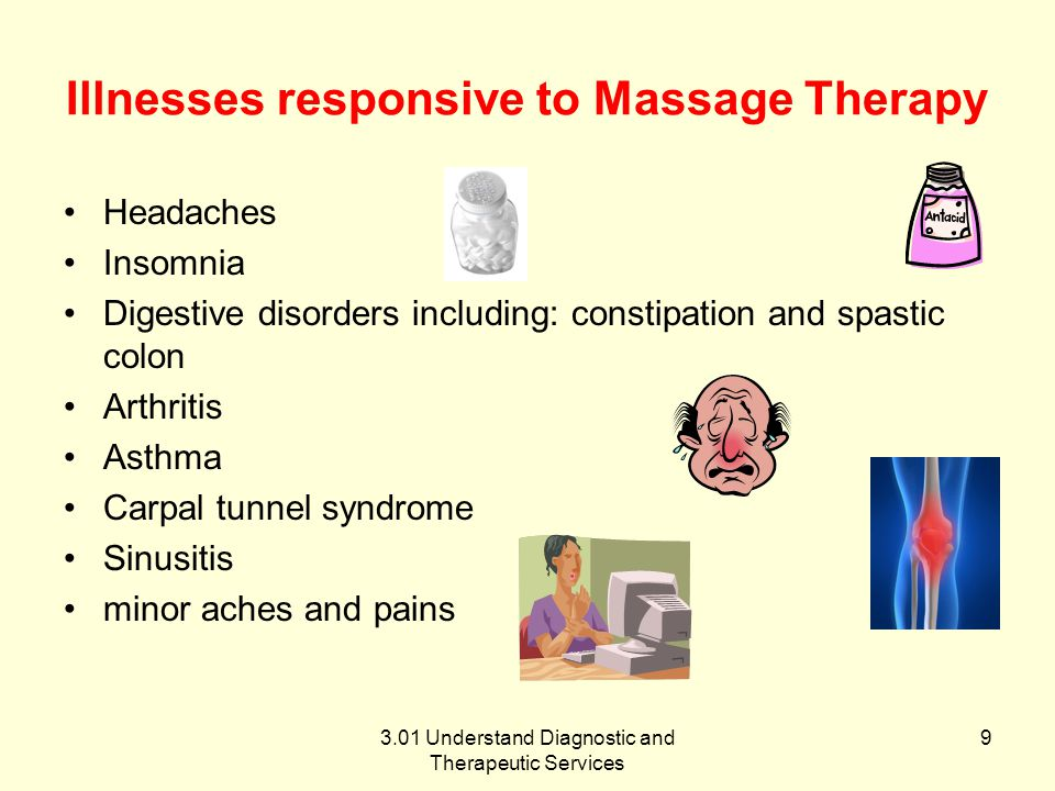 Illnesses responsive to Massage Therapy