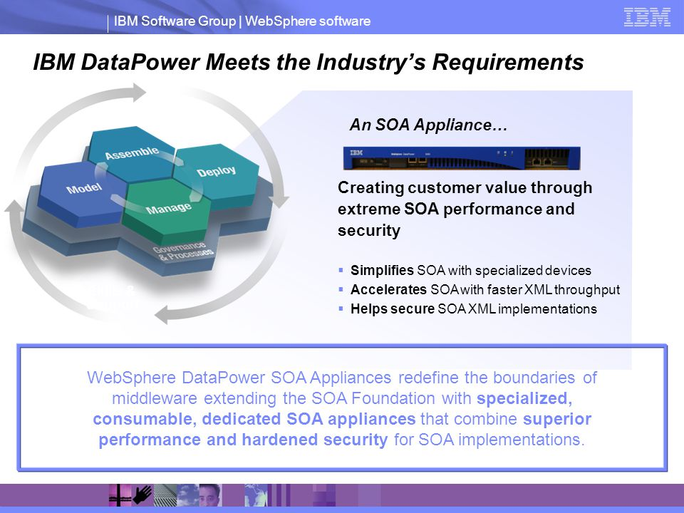 IBM DataPower Meets the Industry's Requirements