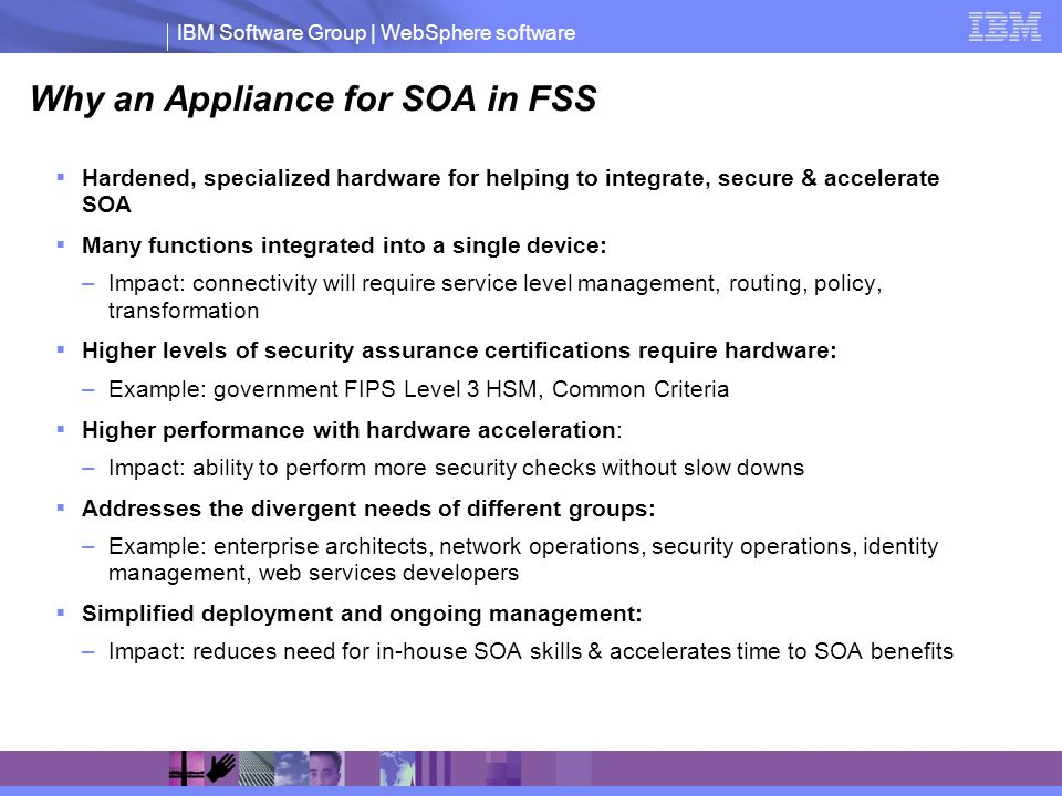Why an Appliance for SOA in FSS