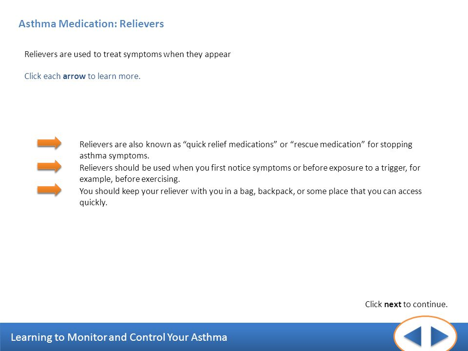 Asthma Medication: Relievers