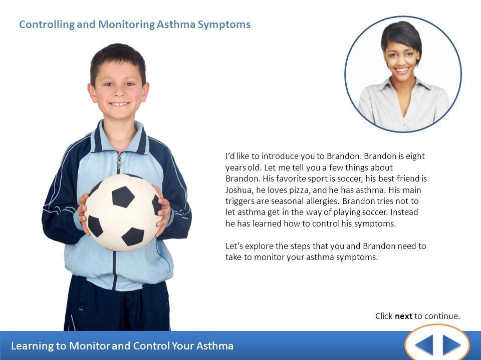 Controlling and Monitoring Asthma Symptoms