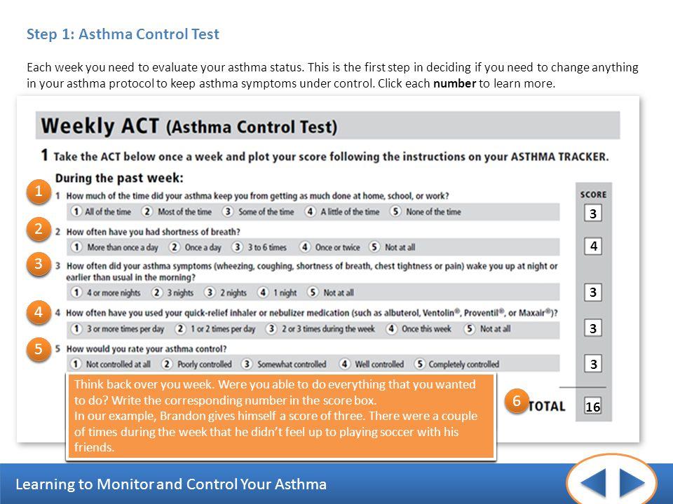 Step 1: Asthma Control Test