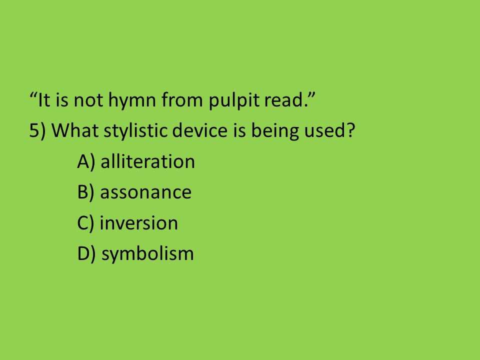 It is not hymn from pulpit read