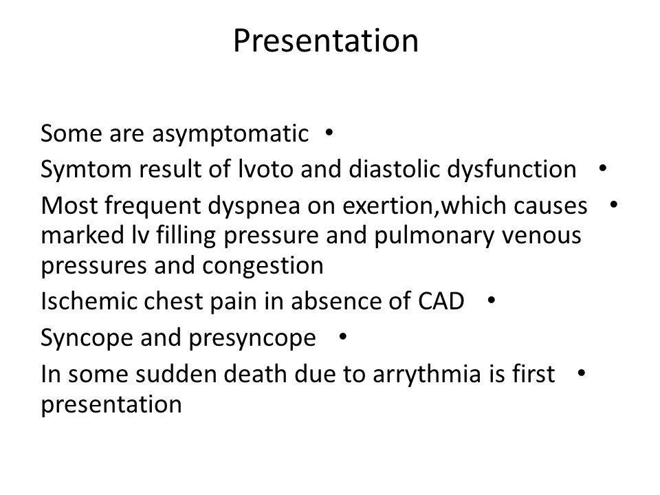 Presentation Some are asymptomatic