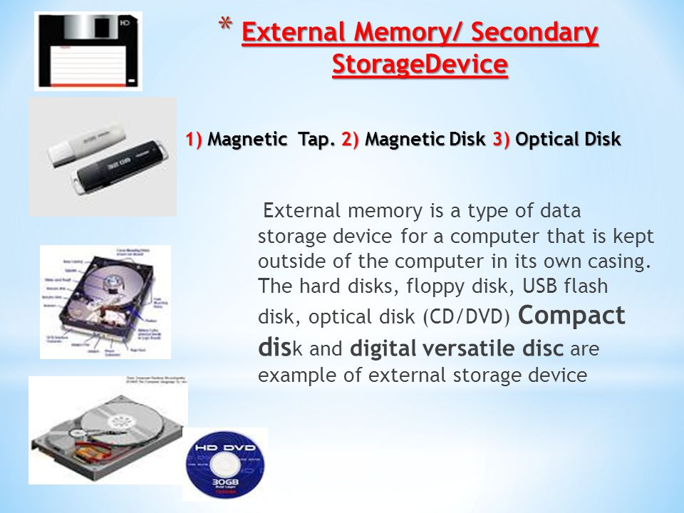 Computer Memory/Storage Device - ppt download