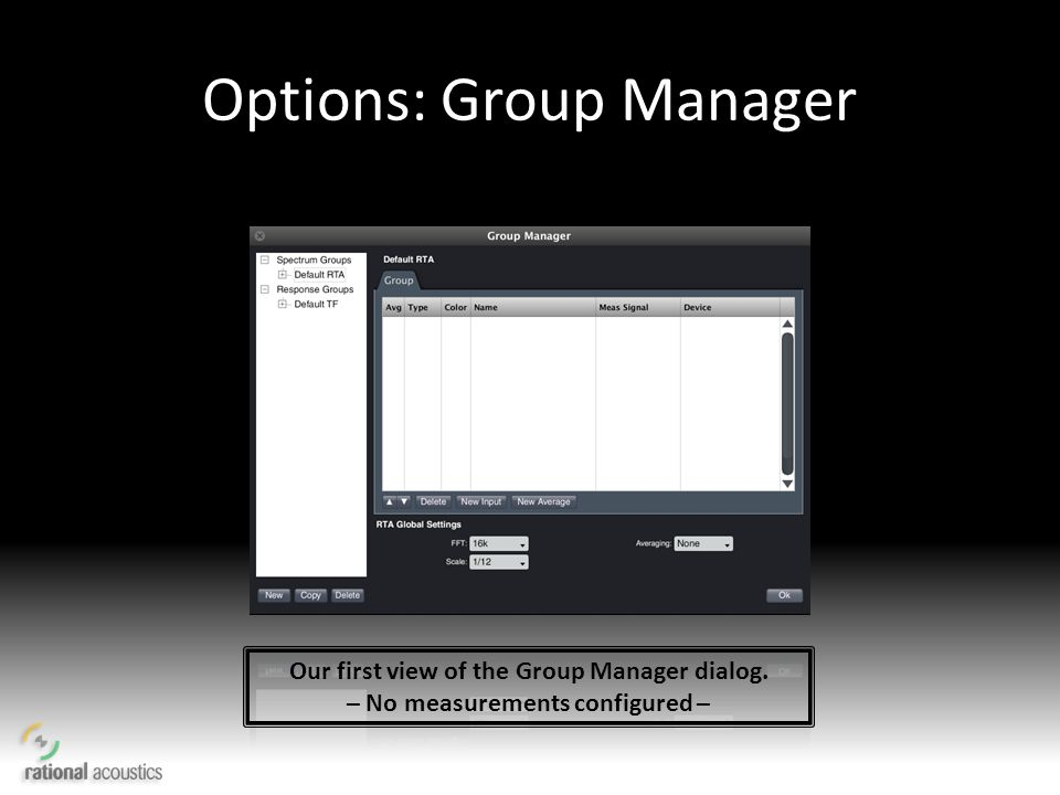 Options: Group Manager