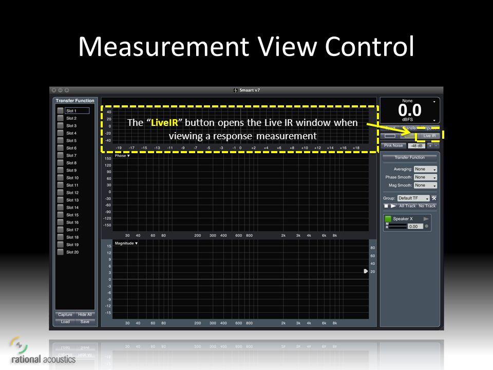 Measurement View Control