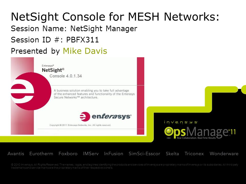 NetSight Console for MESH Networks: