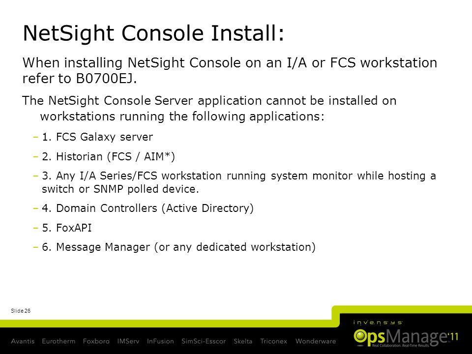 NetSight Console Install:
