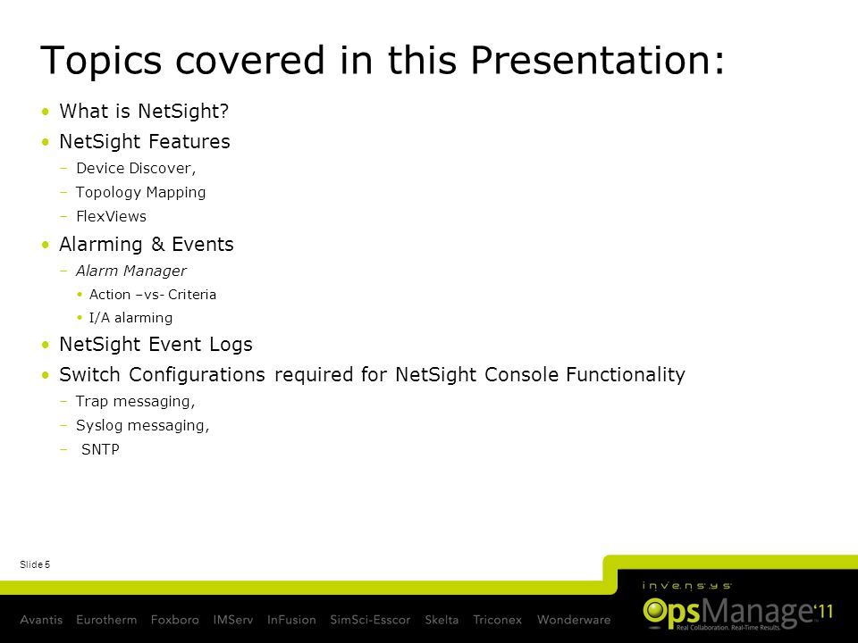 Topics covered in this Presentation: