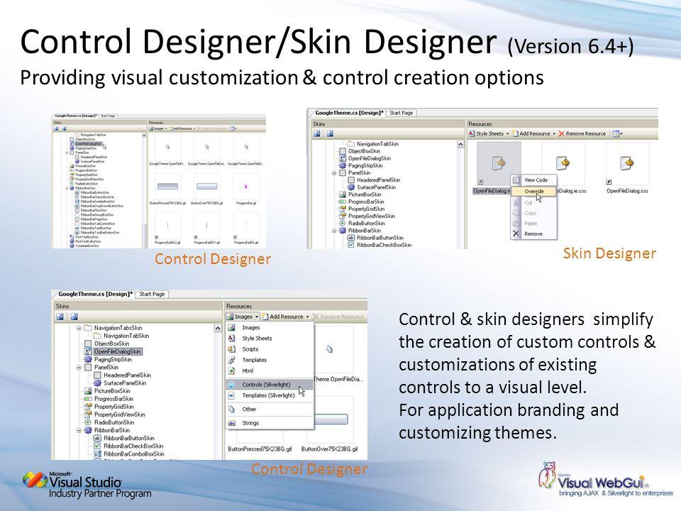 Control Designer/Skin Designer (Version 6