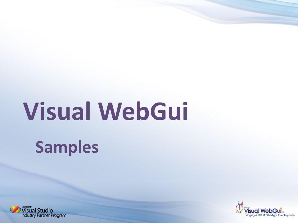 Visual WebGui Samples