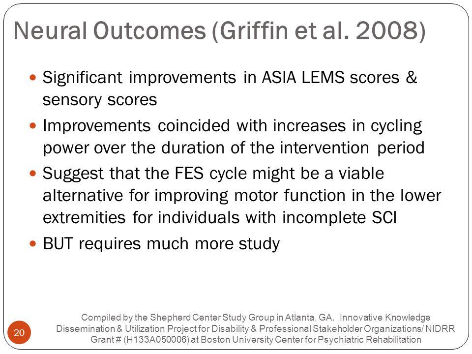 Neural Outcomes (Griffin et al. 2008)
