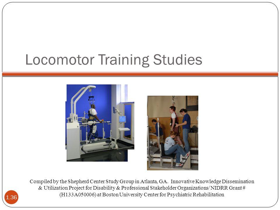Locomotor Training Studies