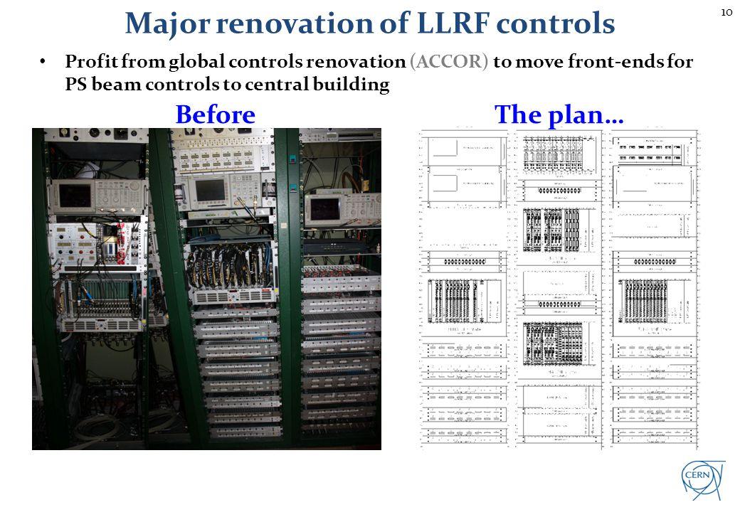 Major renovation of LLRF controls