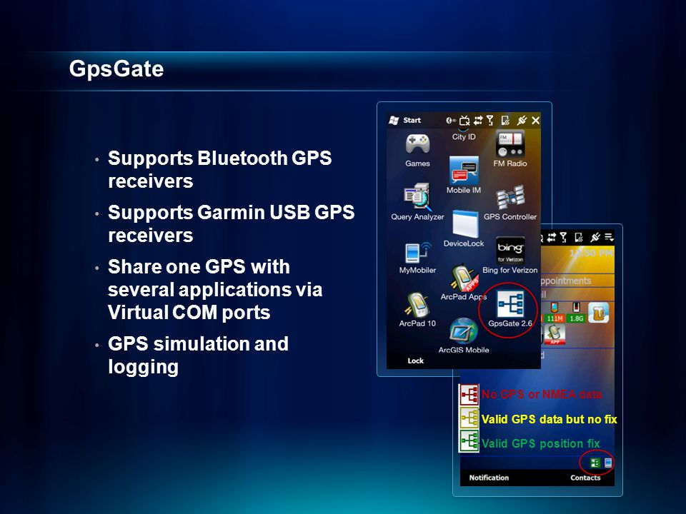 GpsGate Supports Bluetooth GPS receivers