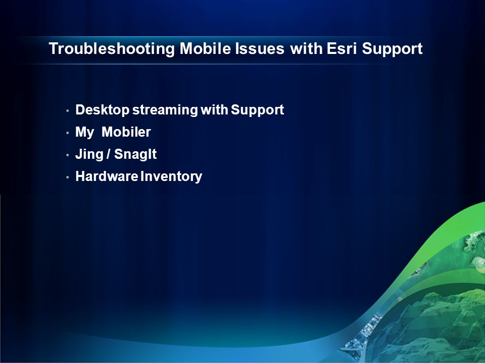 Troubleshooting Mobile Issues with Esri Support