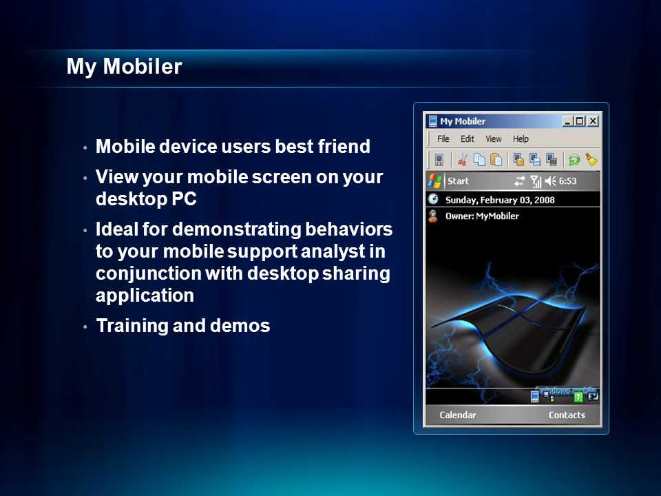 My Mobiler Mobile device users best friend