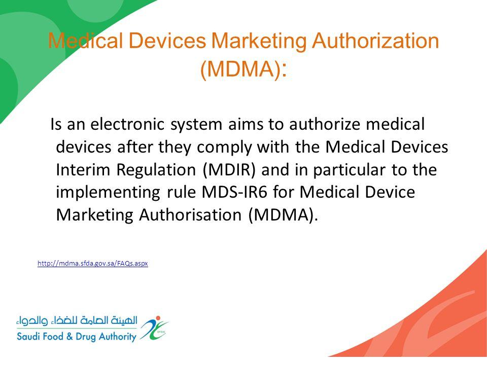 Medical Devices Marketing Authorization (MDMA):