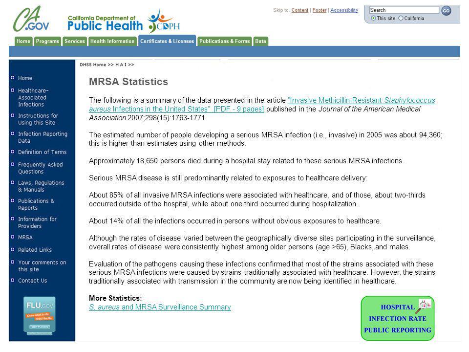 MRSA Statistics