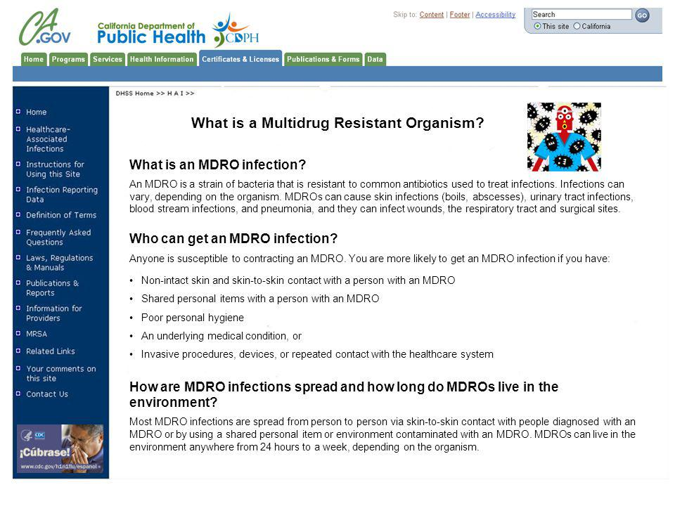 What is a Multidrug Resistant Organism