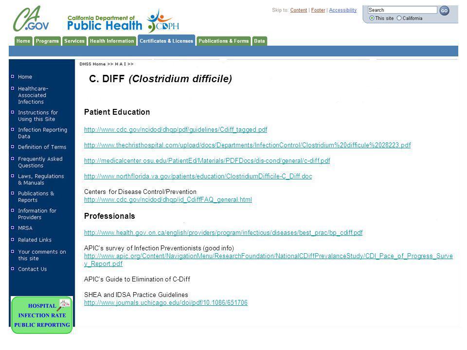 C. DIFF (Clostridium difficile)