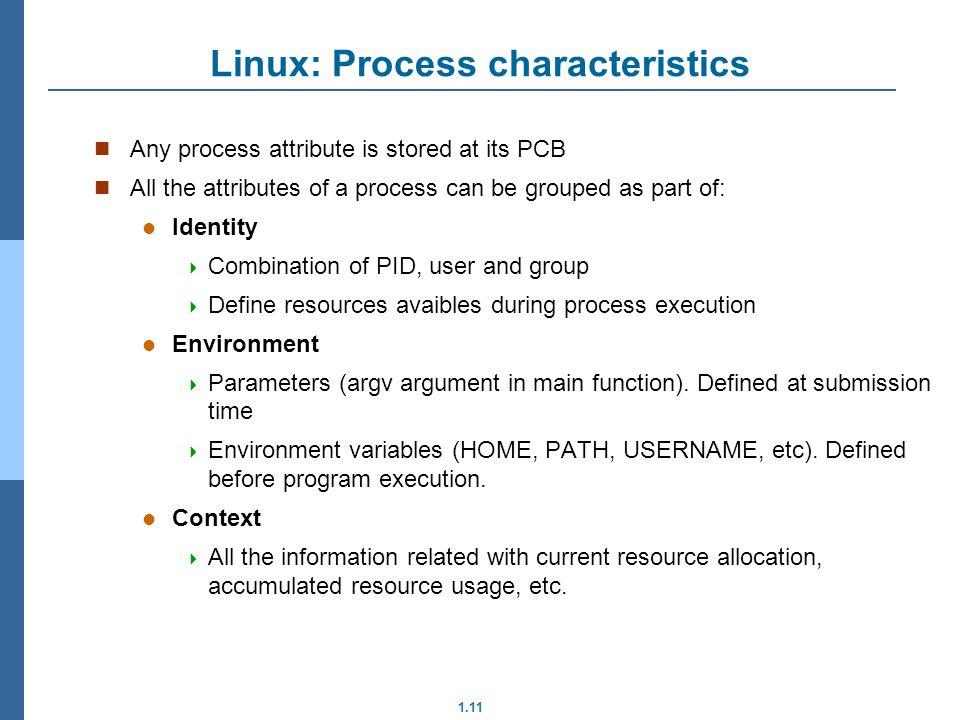 Linux: Process characteristics