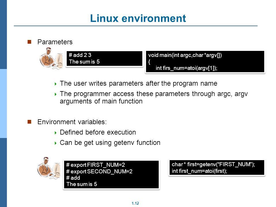 Linux environment Parameters