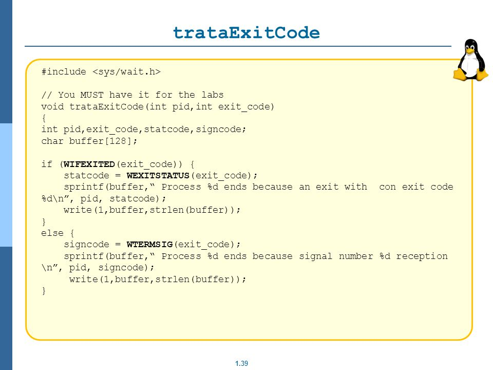 trataExitCode #include <sys/wait.h>