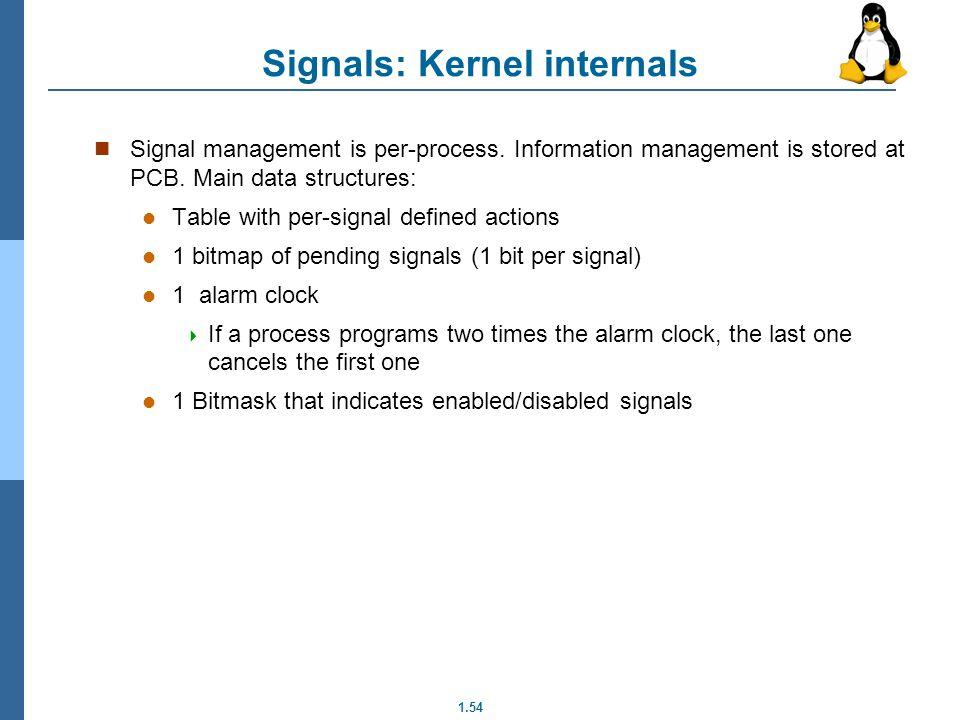 Signals: Kernel internals