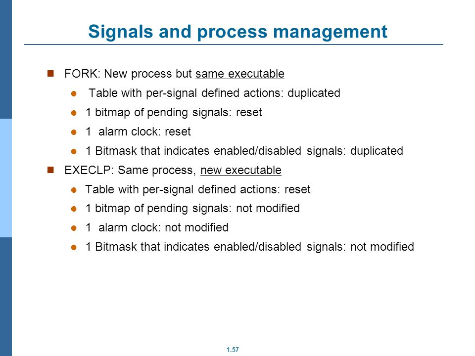 Signals and process management