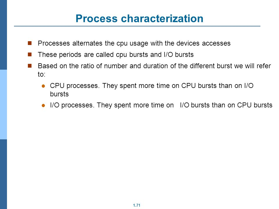 Process characterization