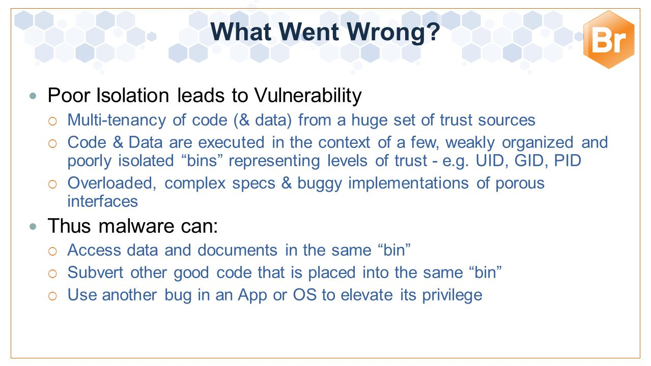What Went Wrong Poor Isolation leads to Vulnerability