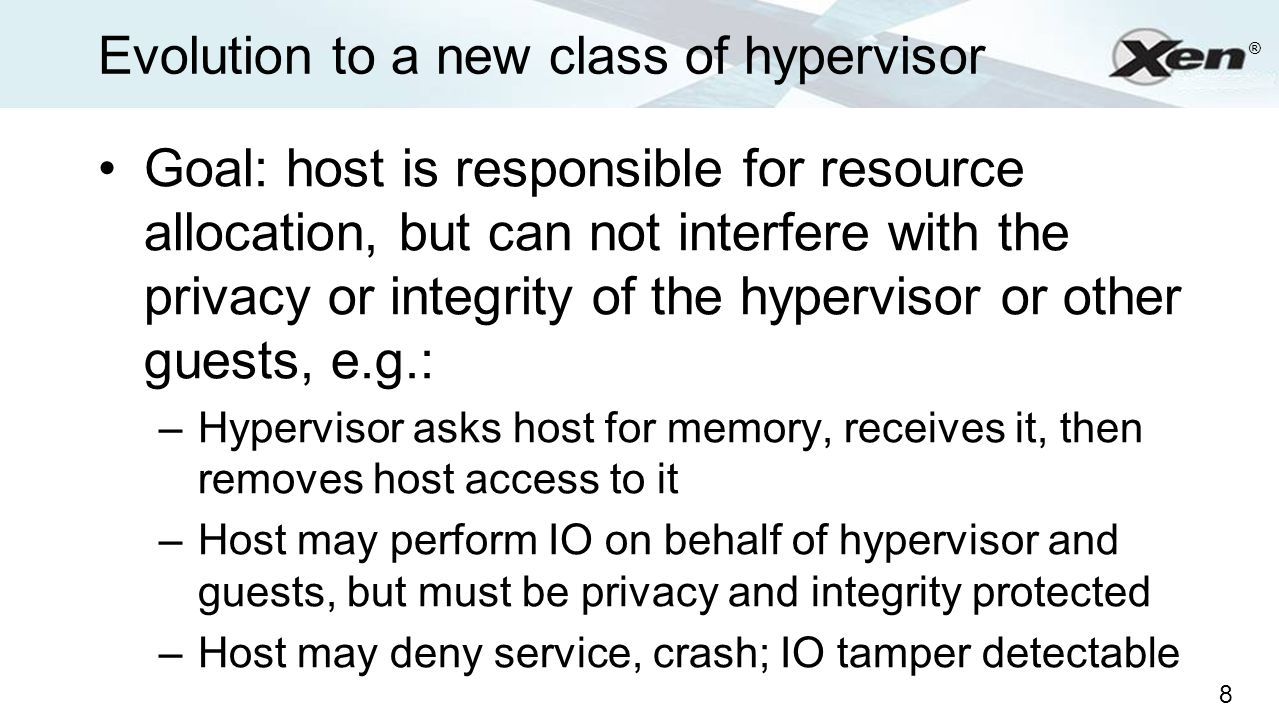 Evolution to a new class of hypervisor