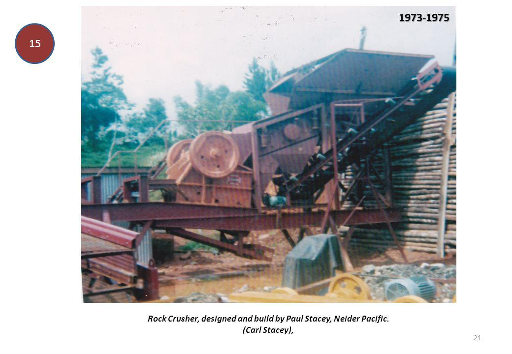 Rock Crusher, designed and build by Paul Stacey, Neider Pacific.