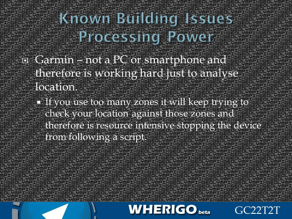Known Building Issues Processing Power