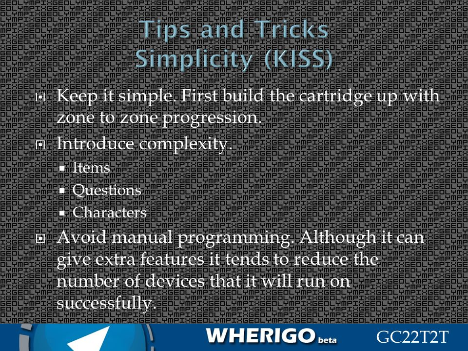 Tips and Tricks Simplicity (KISS)