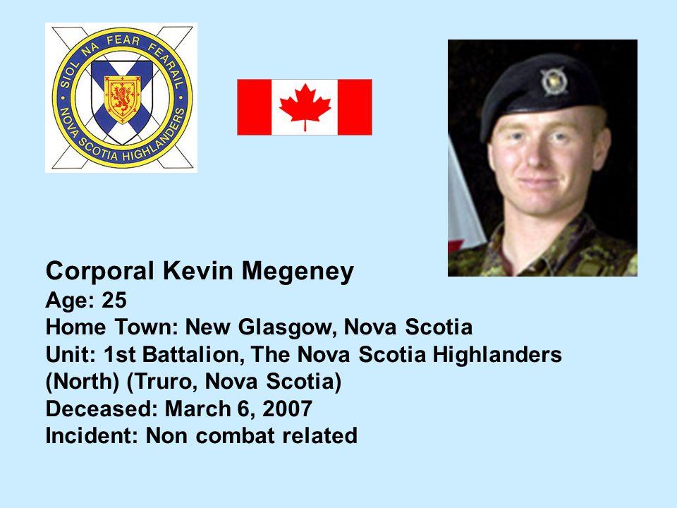 Corporal Kevin Megeney