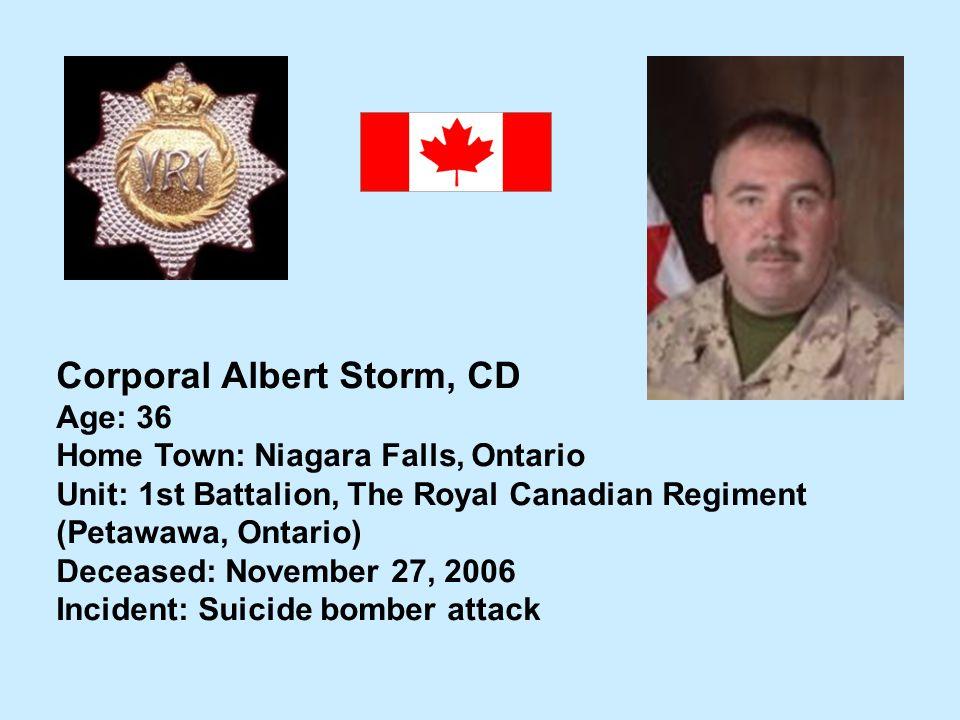 Corporal Albert Storm, CD