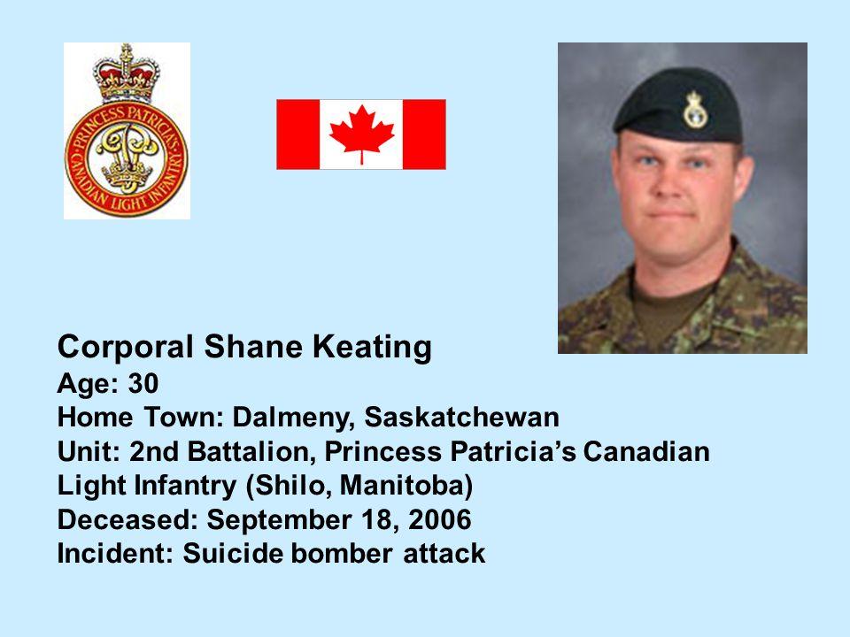 Corporal Shane Keating
