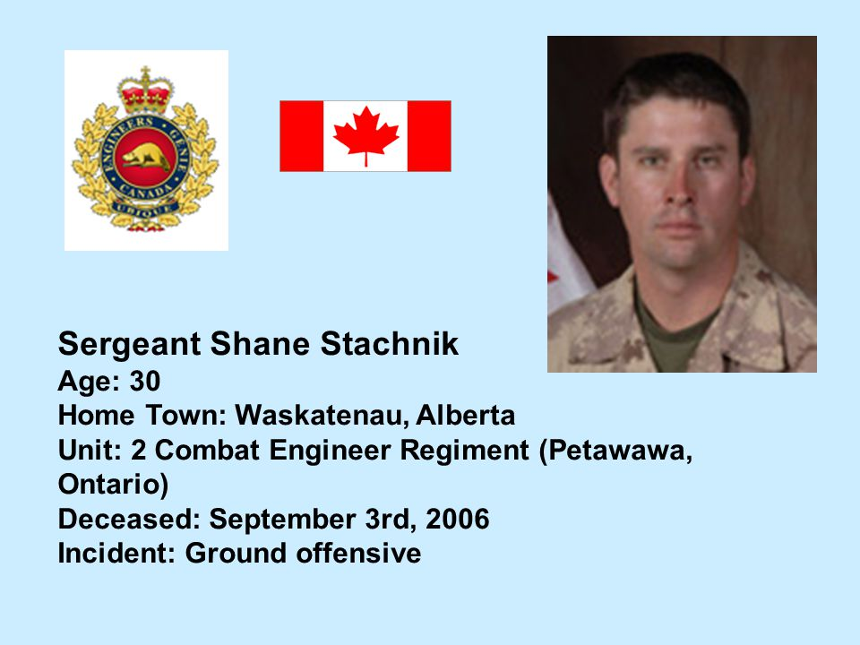 Sergeant Shane Stachnik