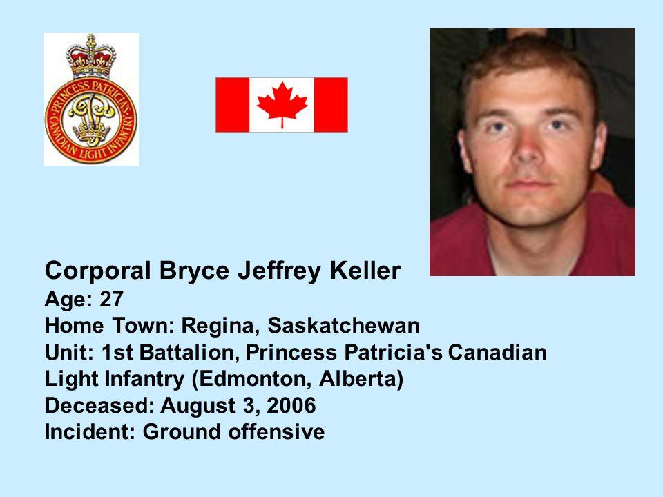 Corporal Bryce Jeffrey Keller