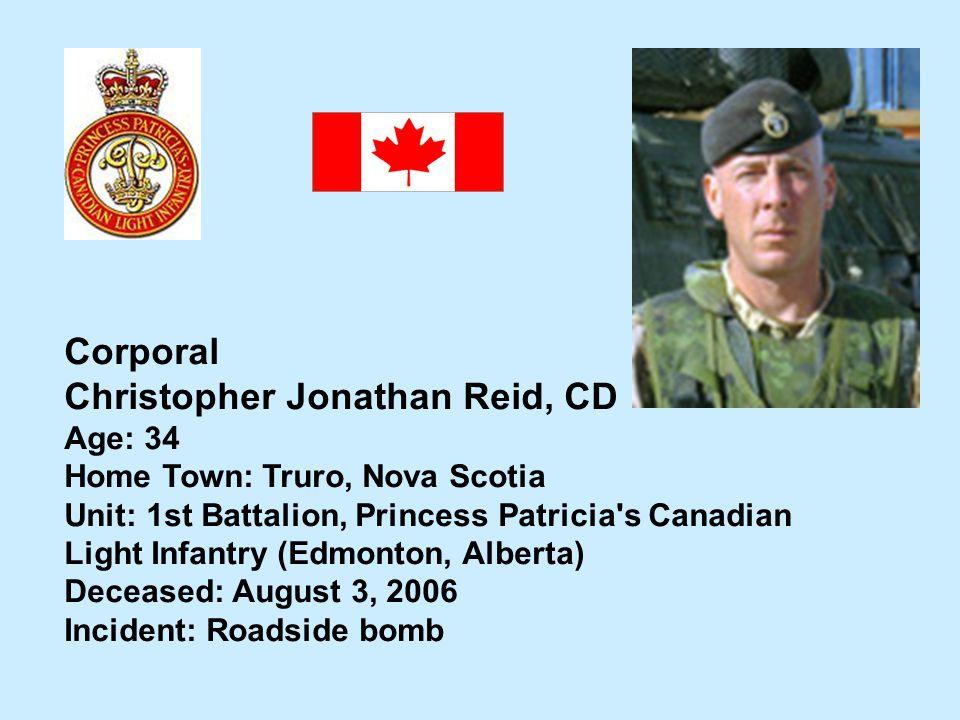 Christopher Jonathan Reid, CD
