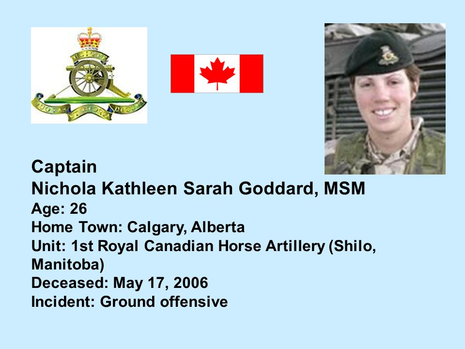 Nichola Kathleen Sarah Goddard, MSM